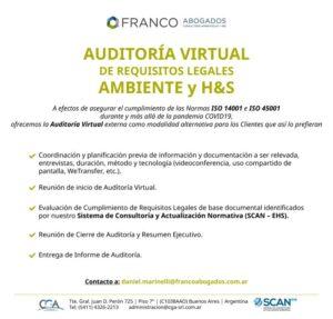 Auditoría Virtual de Requisitos Legales Ambiente y H&S